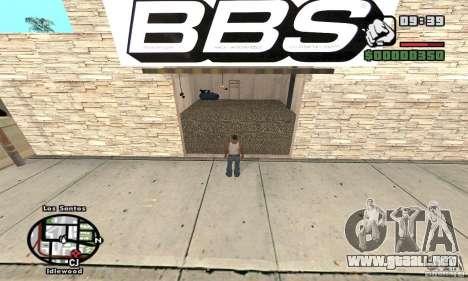 BBS PaynSpray para GTA San Andreas tercera pantalla