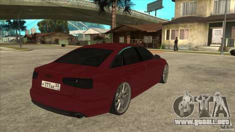 Audi A6 (C7) para la visión correcta GTA San Andreas