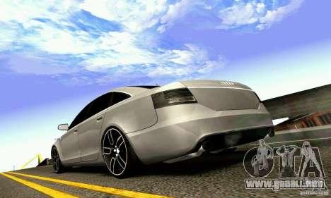 Audi A6 Blackstar para la vista superior GTA San Andreas
