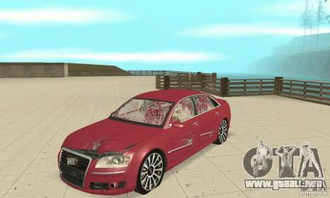 Audi A8L 4.2 FSI para vista lateral GTA San Andreas