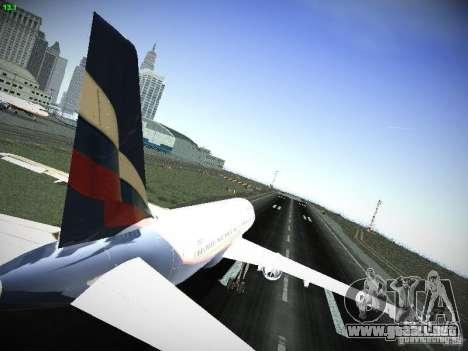 Aeroflot Russian Airlines Airbus A320 para la visión correcta GTA San Andreas