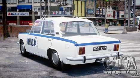 Fiat 125p Polski Milicja para GTA 4 Vista posterior izquierda