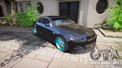 BMW E92 para GTA 4 ruedas