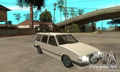 Volvo 945 Wentworth R para GTA San Andreas vista hacia atrás