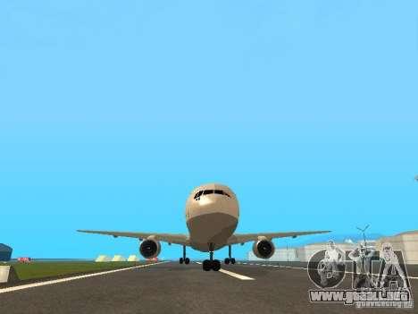 Boeing 767-300 Lufthansa para visión interna GTA San Andreas
