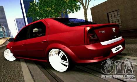 Dacia Logan 2008 para GTA San Andreas left