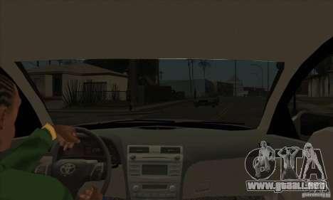 Toyota Camry 2010 SE Police RUS para visión interna GTA San Andreas