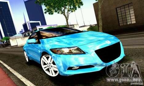 Honda CR-Z 2010 V2.0 para GTA San Andreas left