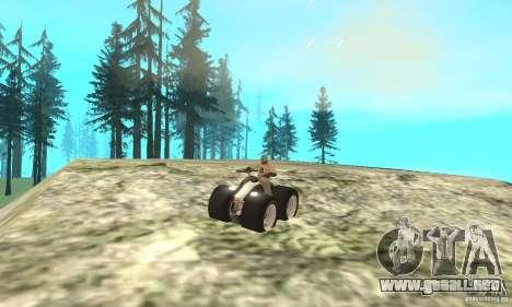 QUAD BIKE Custom Version 1 para GTA San Andreas vista hacia atrás