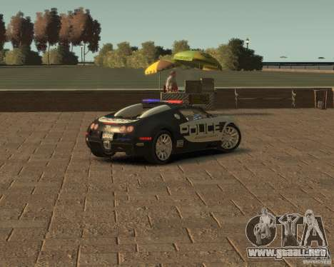 Bugatti Veyron Police [EPM] para GTA 4 Vista posterior izquierda