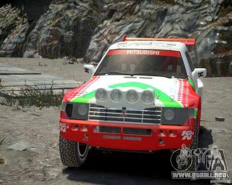 Mitsubishi Pajero Proto Dakar EK86 vinilo 2 para GTA 4 vista interior