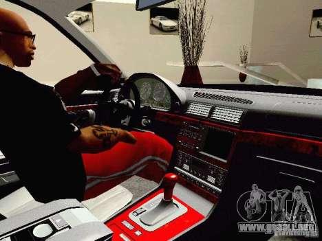 BMW 740i Tuned For Drift para GTA San Andreas vista hacia atrás