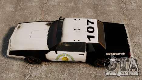 Policía para colorear para un sable oxidado para GTA 4 visión correcta