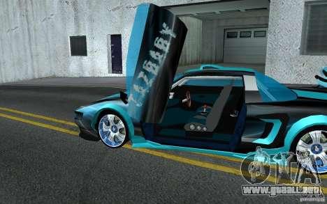 Baby blue Infernus para visión interna GTA San Andreas