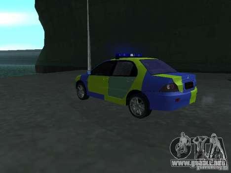 Policía de Mitsubishi Lancer para GTA San Andreas left