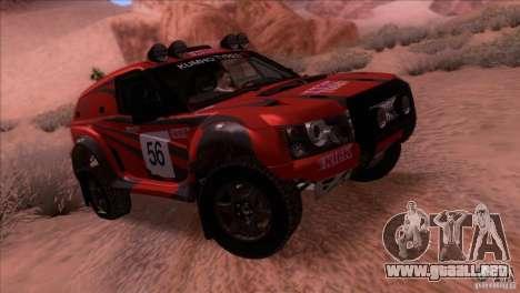 Range Rover Bowler Nemesis para GTA San Andreas vista hacia atrás