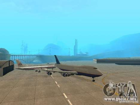 Boeing 747-100 United Airlines para GTA San Andreas left