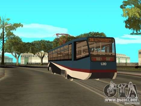 El nuevo tranvía para GTA San Andreas sexta pantalla