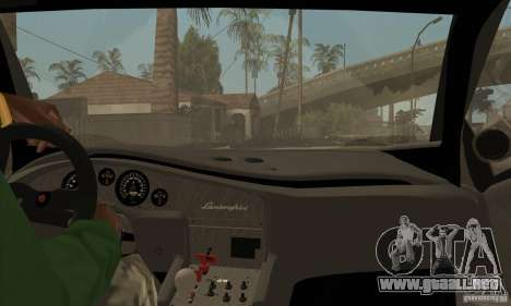 Lamborghini Diablo GT-R para visión interna GTA San Andreas