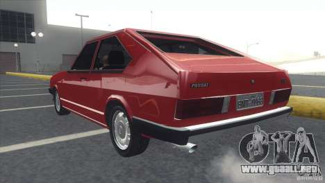 Volkswagen Passat TS 1981 Original para GTA San Andreas left