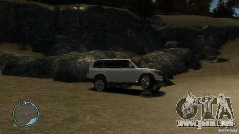 Mitsubishi Pajero Wagon para GTA 4 vista hacia atrás