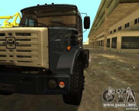 ZIL 5417 para GTA San Andreas vista hacia atrás