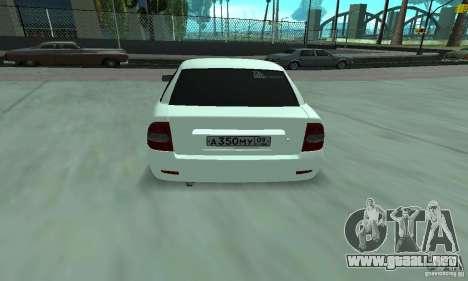 Lada Priora Italia para la visión correcta GTA San Andreas