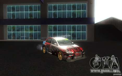 Mitsubishi Lancer Evolution X Gymkhana para vista lateral GTA San Andreas