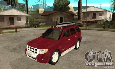 Ford Escape 2009 para GTA San Andreas