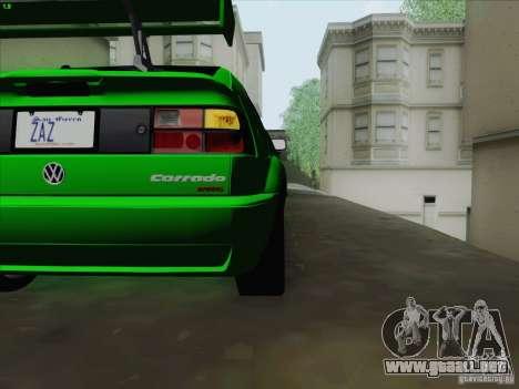 Volkswagen Corrado 1995 para visión interna GTA San Andreas