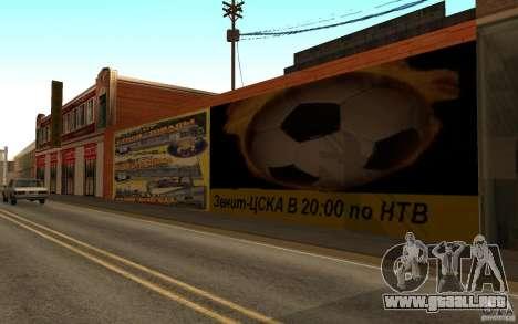 Calle playa nueva para GTA San Andreas sucesivamente de pantalla