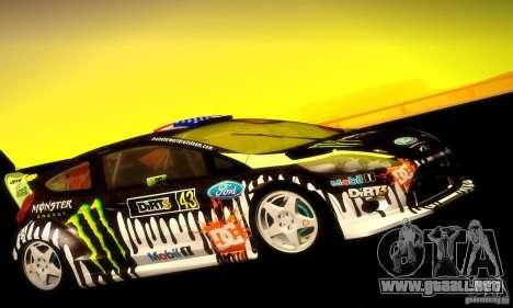 Ford Fiesta Gymkhana 4 para GTA San Andreas vista posterior izquierda