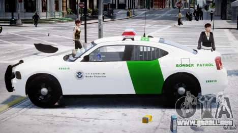 Dodge Charger US Border Patrol CHGR-V2.1M [ELS] para GTA 4 vista interior