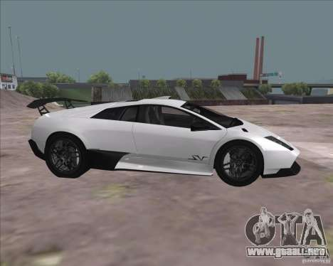 Lamborghini Murcielago LP670-4 SV para GTA San Andreas vista hacia atrás