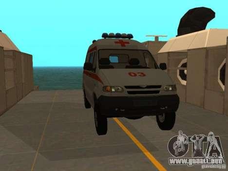 Ambulancia UAZ Simba SC para la visión correcta GTA San Andreas