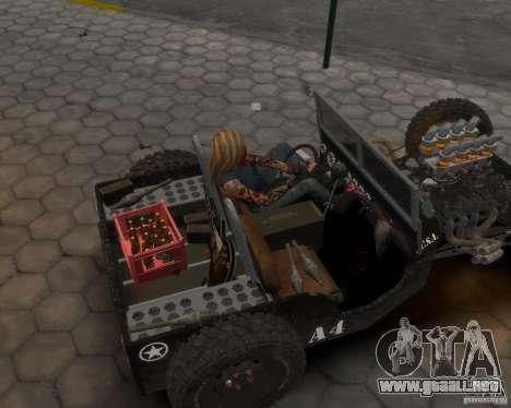 Willys Hot-Rod para GTA 4 Vista posterior izquierda