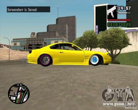 Nissan S330SX Japan SHK style para visión interna GTA San Andreas