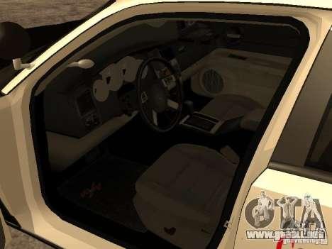 Dodge Charger RT Police para GTA San Andreas vista hacia atrás