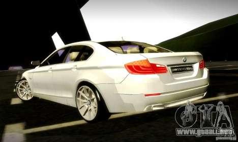 BMW 550i F10 para visión interna GTA San Andreas