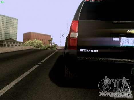 Chevrolet Tahoe 2009 Unmarked para visión interna GTA San Andreas