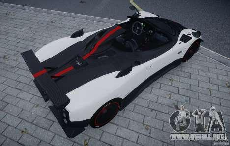 Pagani Zonda Cinque Roadster para GTA 4 vista hacia atrás