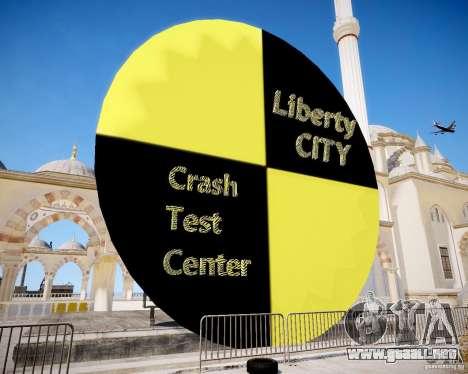 LC Crash Test Center para GTA 4 segundos de pantalla