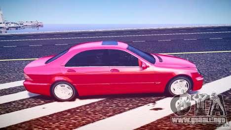 Mercedes-Benz S600 para GTA 4 vista hacia atrás