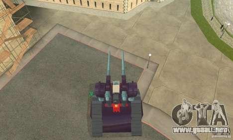 Tanque RX-75-4 Guntank para la visión correcta GTA San Andreas