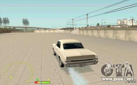 Calibrador de combustible y velocímetro para GTA San Andreas