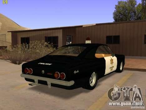 Chevrolet Opala Police para GTA San Andreas left