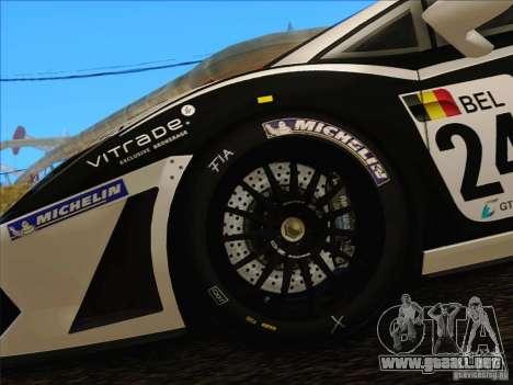 Lamborghini Gallardo LP560-4 GT3 V2.0 para visión interna GTA San Andreas