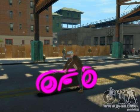 Motocicleta del trono (neón rosa) para GTA 4 left