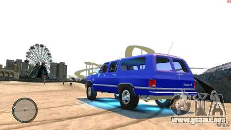 Chevrolet Suburban 1986 para GTA 4 left