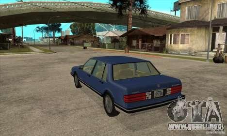Pontiac Bonneville 1989 para GTA San Andreas vista posterior izquierda